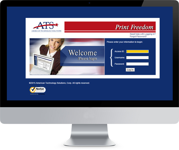 Monitor with ATS Login Webpage